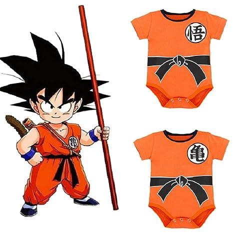 80 Stil 1 ALTcompluser Kinder Dragon Ball Son Goku Strampler Baby Body Romper Kleidung Jungen M/ädchen