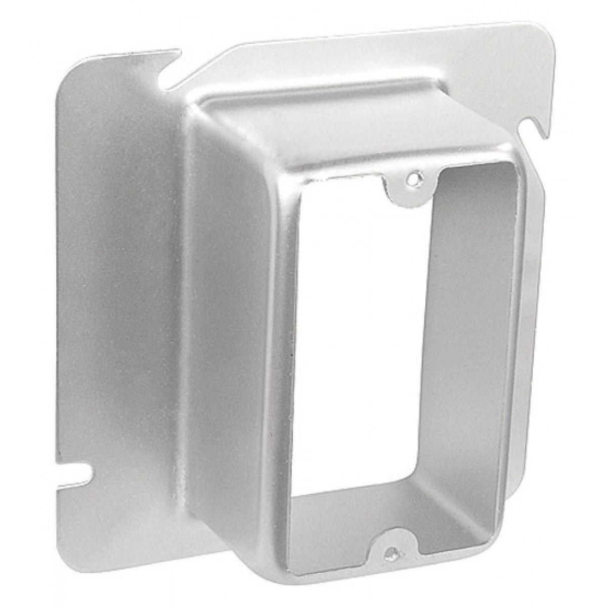 1 Pc, 4-11/16 One Gang Device Ring, 2 In. Raised, Steel Used to Mount Switches Or Receptacles On Junction Boxes