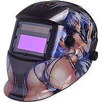 Nuzamas Solar Powered Auto Darkening lashelm masker Weld gezichtsbescherming voor Arc Tig Mig slijpen Plasma snijden met…