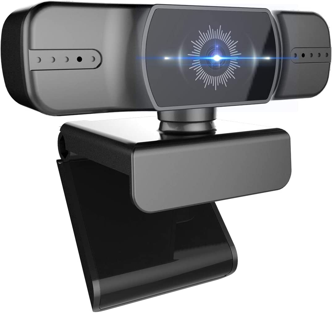 1080p Webcam, Computer Camera with Microphone, Auto Focus Web Camera for Computers, Desktop, Laptop, 90 Extended View, Suitable for Zoom, Skype, YouTube Recording