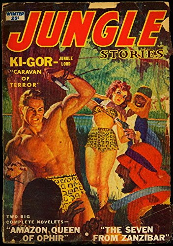 (Jungle Stories Pulp Winter 1952- Ki-Gor- George Gross cover- G)