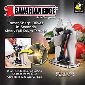 BulbHead 12352 Bavarian Edge Kitchen Knife Sharpener in Silver 1 Pack