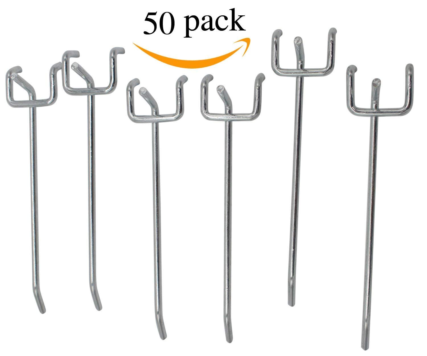 Calax 4-Inch Pegboard Hooks and Organizer Assortment 50-Piece (4 INCH)