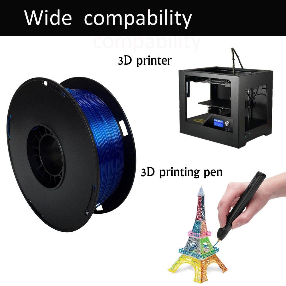 Blue 1.75mm PETG Filament 2.2lbs PETG 1kg Dimensional Accuracy +//- 0.03mm NOVAMAKER 3D Printer Filament