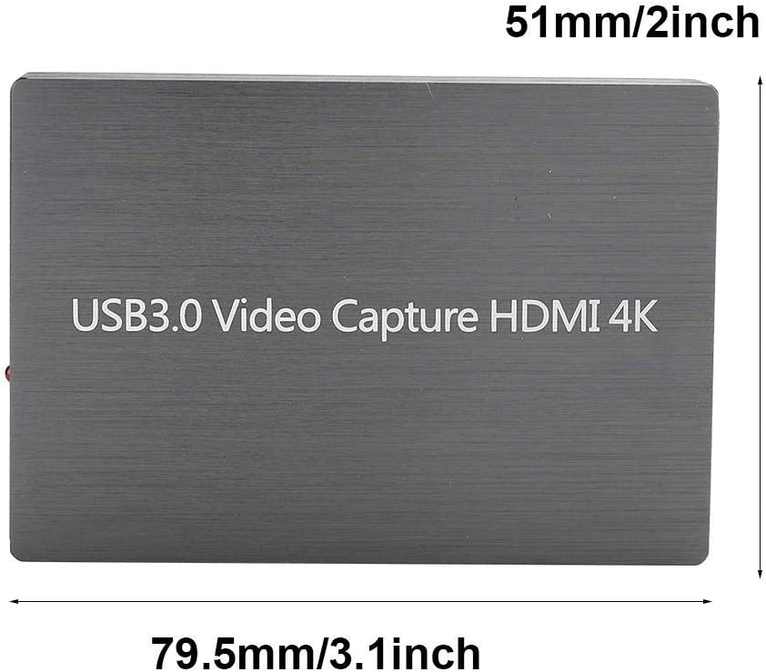 Live Streaming Video Game Grabber Converter Drive-Free HDMI to USB Dongle 1080P Recording Box Pusokei USB 3.0 HDMI Video Capture Card for Live Microphone