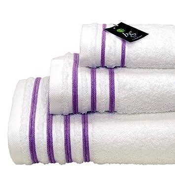 Personalizado Monogram terciopelo toallas de 500 G/m² - 3 piezas - Juego de toallas de baño, toalla de mano, toalla de invitados: Amazon.es: Hogar