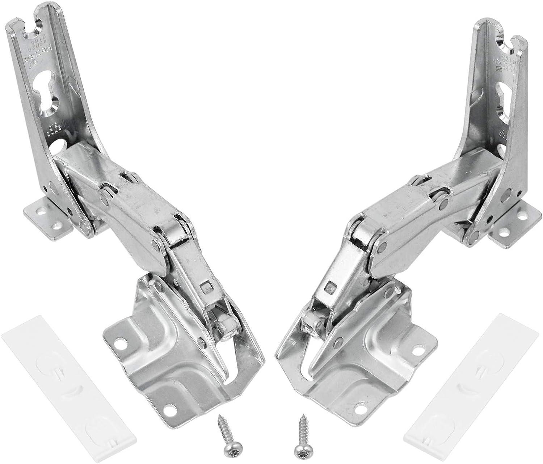 Spares2go - Bisagras de puerta integradas para frigorífico y congelador tipo Hettich (bisagras izquierda y derecha con códigos: 3306 3702 3307 3703 5.0 41.5)