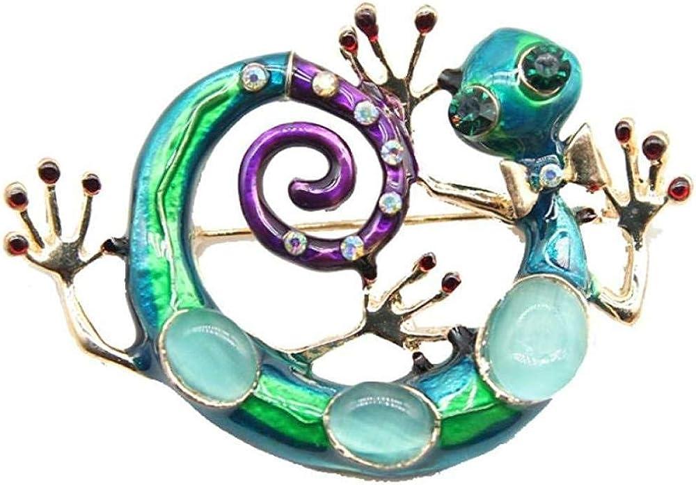 XONGZZJ Broche Cadena del Cuerpo Moda Cristal Piedra Animal Broche Pin Mujeres Pavo Real Accesorios de la Ropa Broche de joyería Alfiler de Diamantes de imitación Joyería de Las señoras