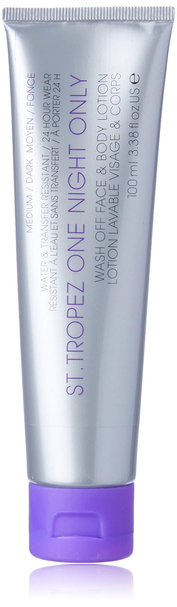 St. Tropez One Night Only Wash Off Face & Body Lotion, Medium/Dark by ST TROPEZ