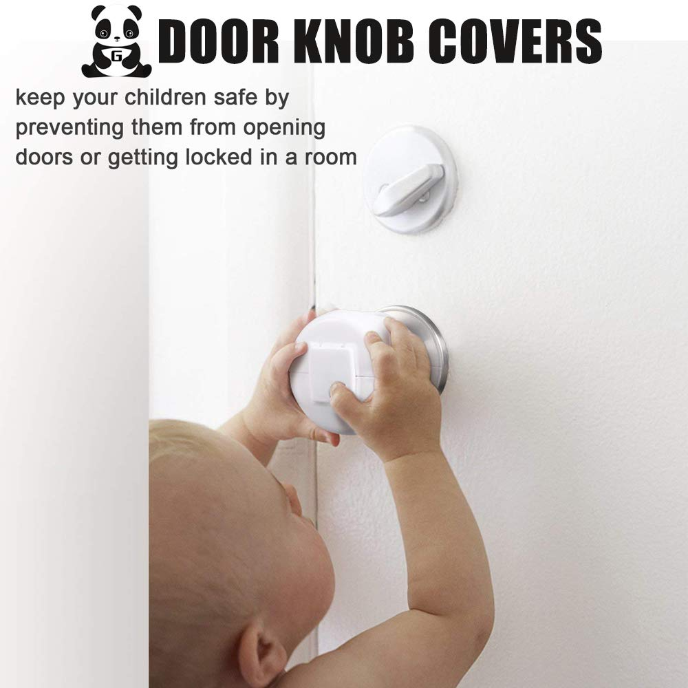 4 Pack by Greatmaster Baby Safety Door Knob Covers Door Knob Locks Door Knob Covers