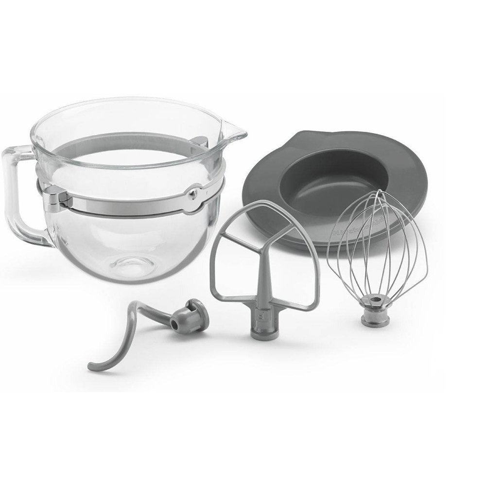 KitchenAid 6 Quart Glass Mixing Bowl with Accessories for Bowl-lift Stand Mixers by KitchenAid