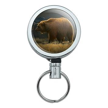 Amazon.com: Wandering Grizzly Bear - Llavero retráctil de ...