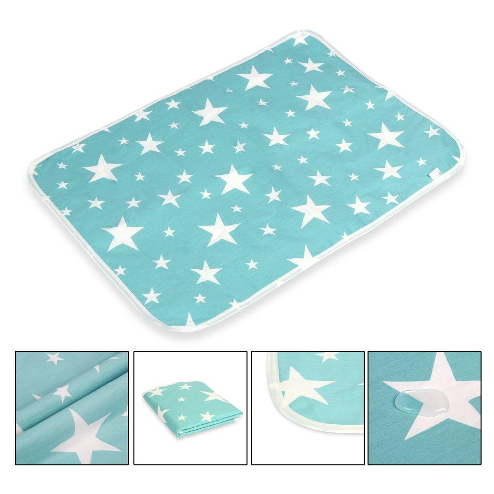 Fantasie Sterne, M - 50 x 70 cm Wasserdicht 2 St/ücke Waschbar S/äugling Wickelunterlage f/ür Babys und Kleinkinder Atmungsaktiv Wiederverwendbare Urin Matte Abdeckung