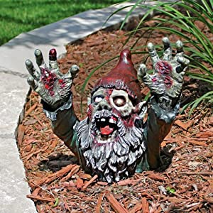 Design Toscano Cl6565 Zombie Gnombie Graveyard Garden Gnome Statue 11 Inch Full Color