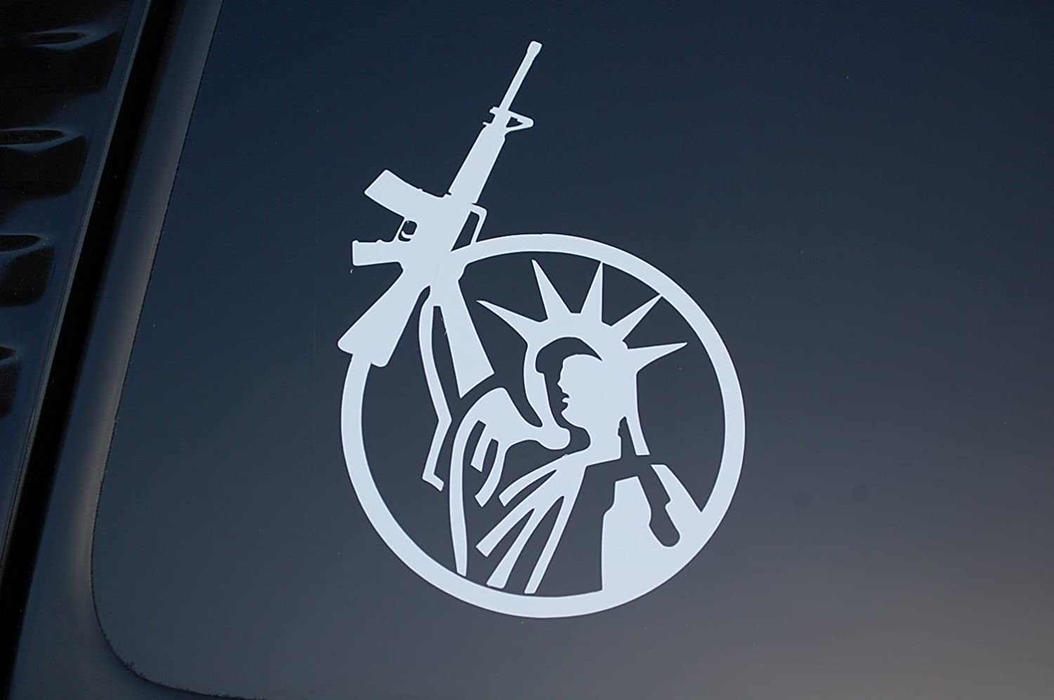 3 x LADY LIBERTY GUN Decal Sticker Rights 2nd Amendment NRA AR15 Molon Labe