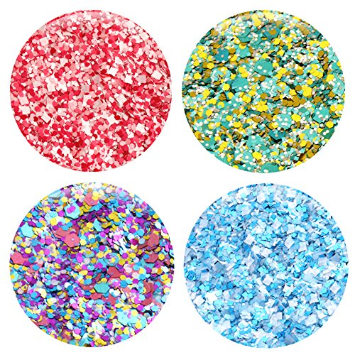 Mixed Glitter 20 Piece Kit – Includes Solvent Resistant Dust, Powder, Hexagon, Holographic, Matte Glitters - Great for Nail Art Polish, Gels, Art and Crafts, Paints & Acrylics Supplies - 1/4 OZ Jars by Glitties (Image #3)
