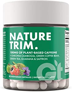 Genesis Today Nature Trim Weight Management and Metabolism Support Supplement, 100mg of Plant Based Caffeine, 90 Vegetarian Capsules