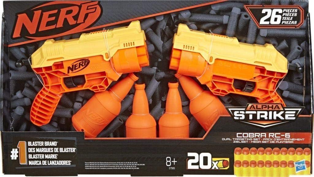 Nerf Alpha Strike 26 Piezas Cobra RC-6 Dual