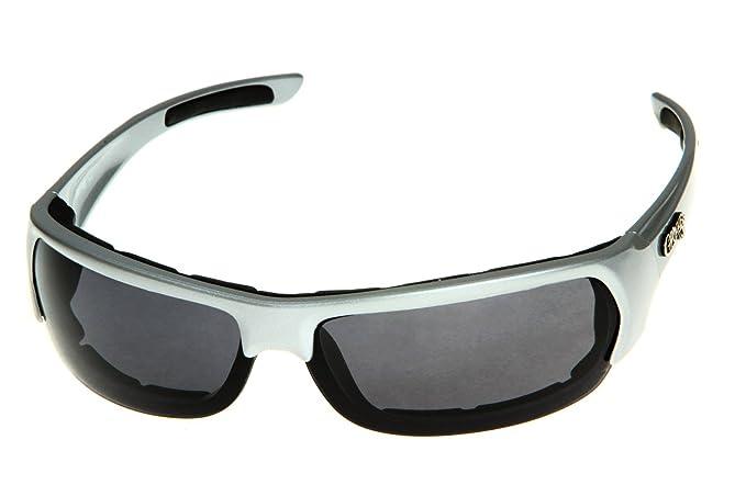 84ecfc5c39b Chopper Men s Wind Resistant Motorcycle Wrap 75mm Dark Lens Silver Frame  Sunglasses