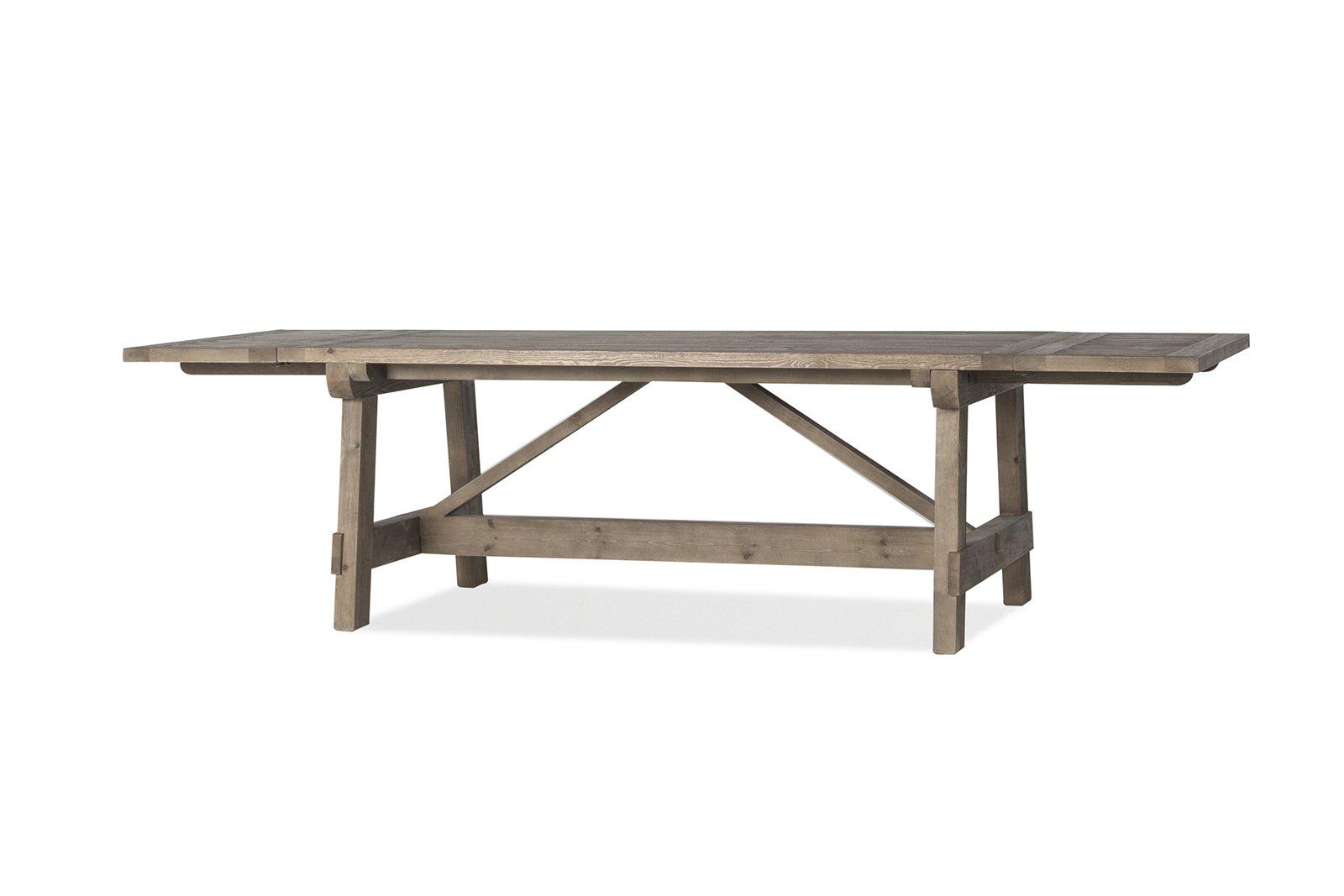 Flamant Dijon Rectangular Extension Dining Table, Weathered Pine