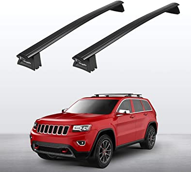 Amazon Com Bougerv Car Roof Rack Cross Bars For 2011 2020 Jeep Grand Cherokee With Side Rails Aluminum Cross Bar Replacement For Rooftop Cargo Carrier Bag Luggage Kayak Canoe Bike Snowboard Skiboard Automotive