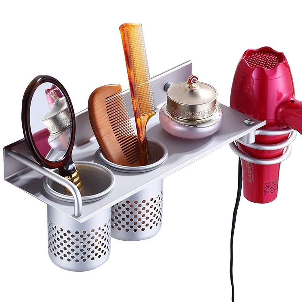 Hair Dryer Drier Holder Organizer Comb Brush Curling Iron Straight Iron Holder Counter Space Saver for Bathroom Bedroom MLCINI
