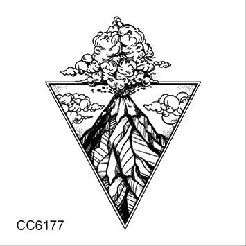 Mb Etiqueta engomada del tatuaje de estilo blanco y negro Árbol ...