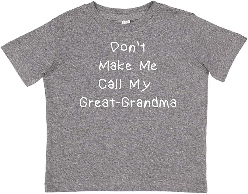 Toddler//Kids Short Sleeve T-Shirt Mashed Clothing Dont Make Me Call My Great-Grandma