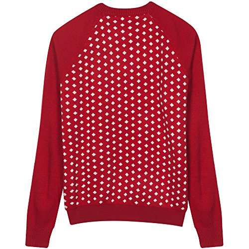Blueberry Pet Men's Women's Ugly Christmas Reindeer Pullover Sweater in Tango Red & Navy Blue, XX-Large by Blueberry Pet (Image #4)