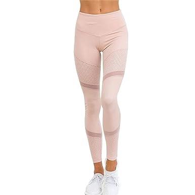 e4fc373ba848ab Mesh Pattern Print Leggings Fitness Leggings for Women Sporting Workout  Leggins Elastic Trousers Slim Pink Pants