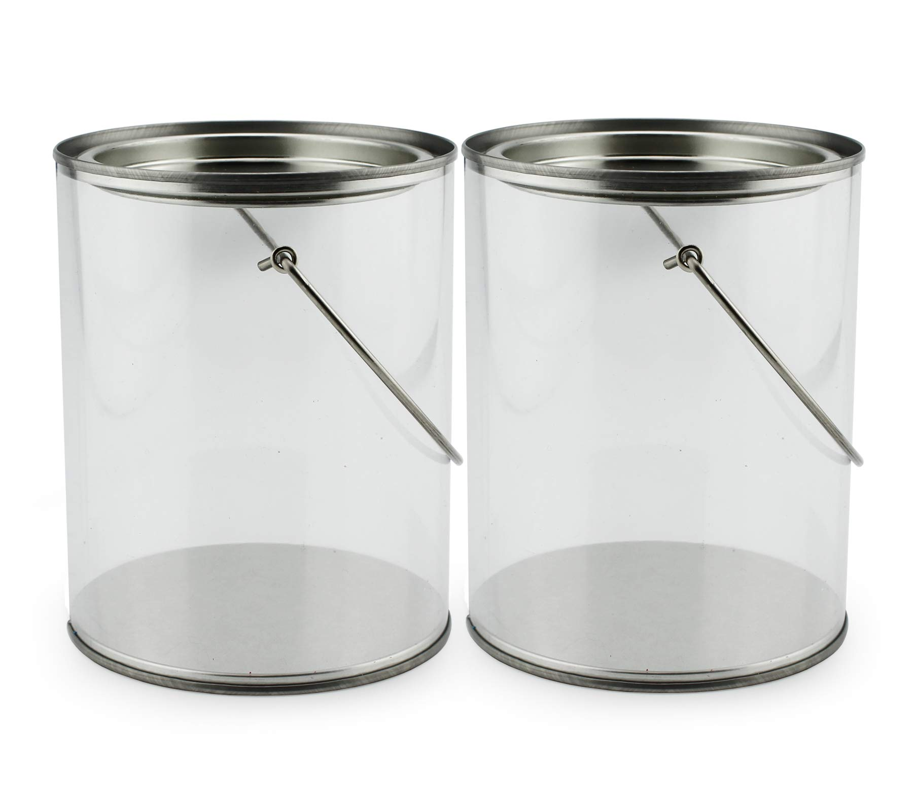 1 Gallon Clear Plastic Paint Cans Amazon Com Clear