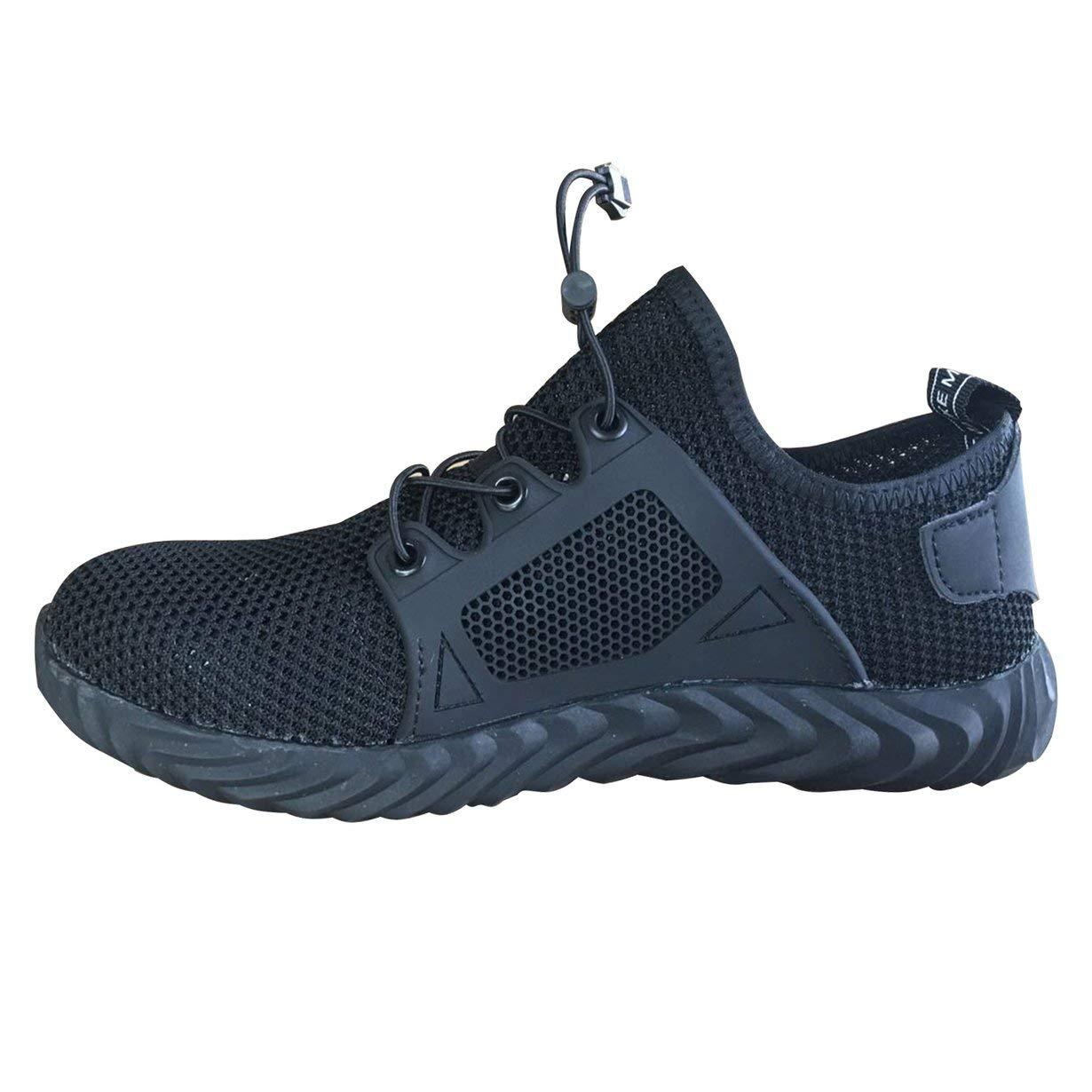 Comomingo Zapatos de Seguridad Zapatos de Trabajo a Prueba de pinchazos Zapatillas Deportivas Transpirables Botas de Malla: Amazon.es: Hogar