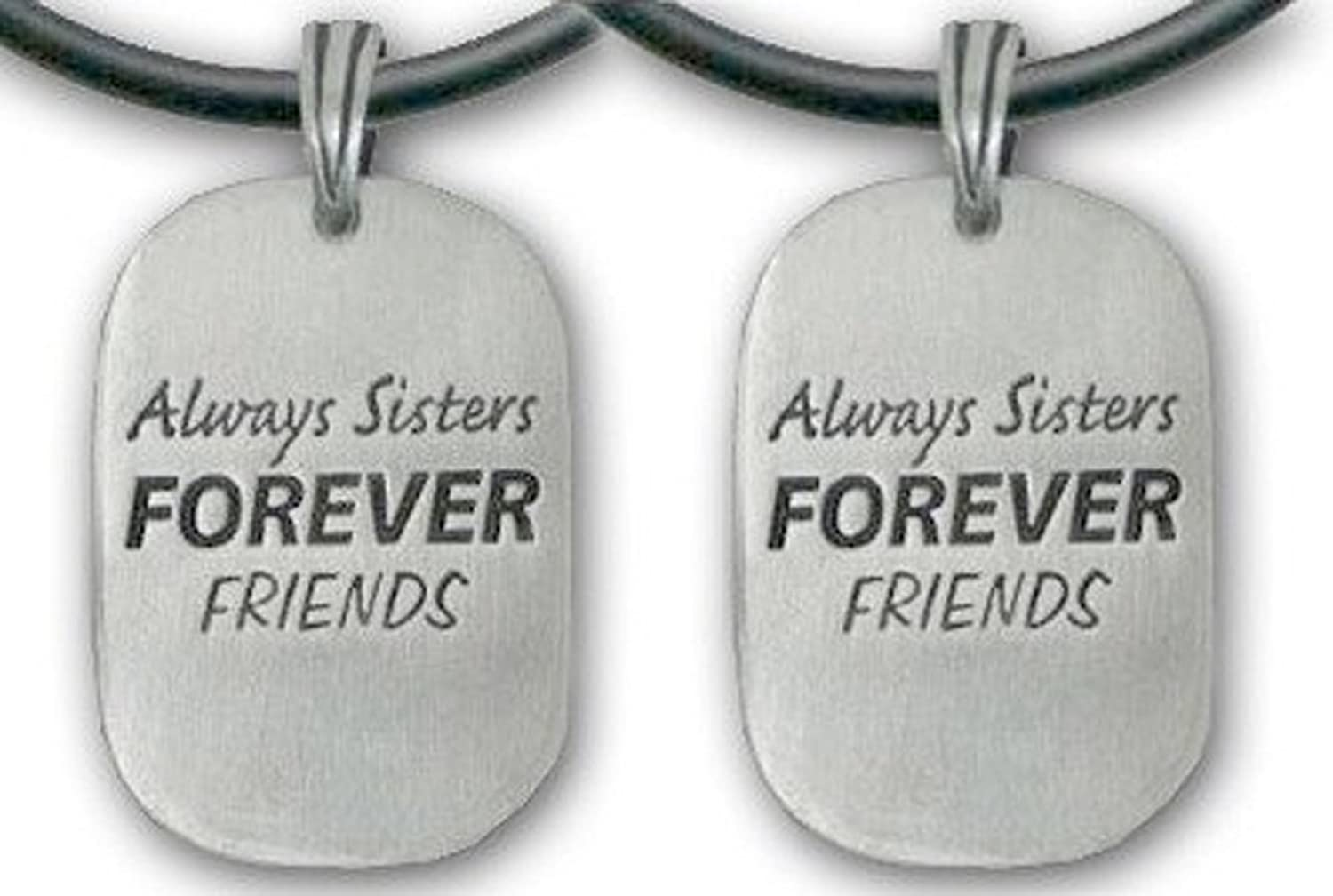 Amazon set of two always sisters forever friends pendant amazon set of two always sisters forever friends pendant necklaces pewter piece with pvc rope chain is a great gift idea for an older big sister aloadofball Image collections