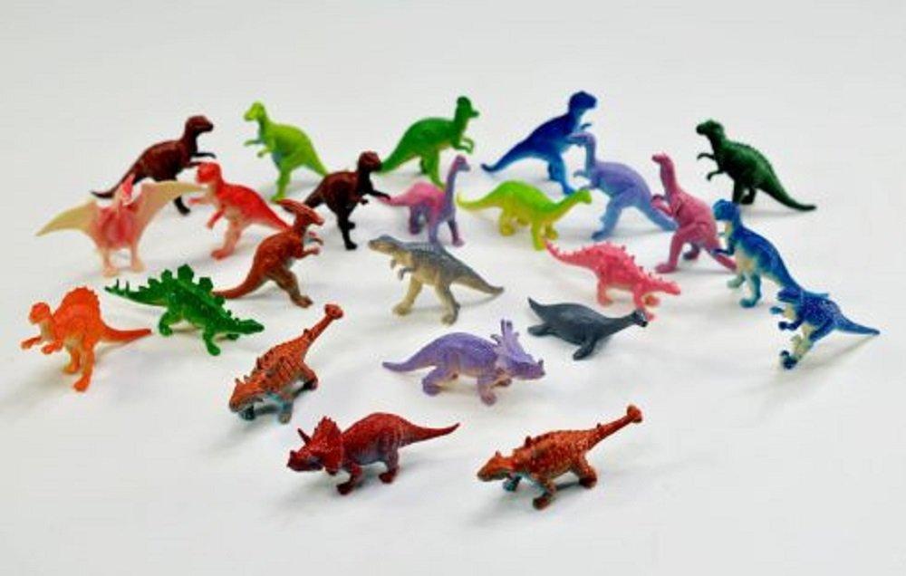 24 Dinosaurier Dino ca. 7 cm groß bunt Farben Mitgebsel Kindergeburtstag Unbekannt
