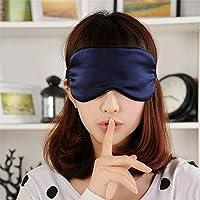 United Lethargics 100% Mulberry Silk Soft Eye Mask / Sleep Mask For Sleeping For Unisex (Navy Blue)