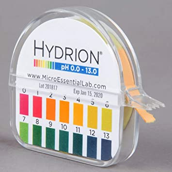 Amazon.com: Hydrion Ph paper (93) with Dispenser and Color Chart - Full  range Insta Chek ph- 0-13 (Limited Edition): Home Improvement