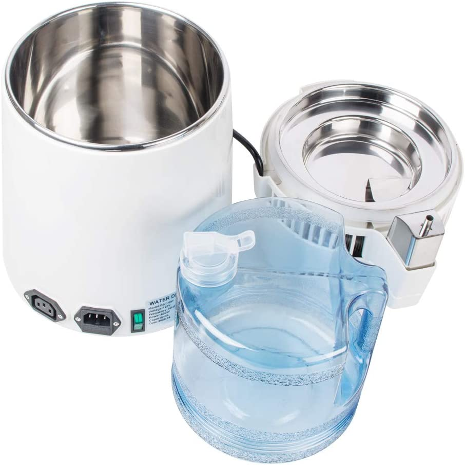 Lolicute Water Distillation Machine,4L Stainless Steel Pure Water Distiller Distilled Water Machine Countertop Water Distillers for Home//Hospital//Office//Laboratory//Travel,110V-Shipping from USA