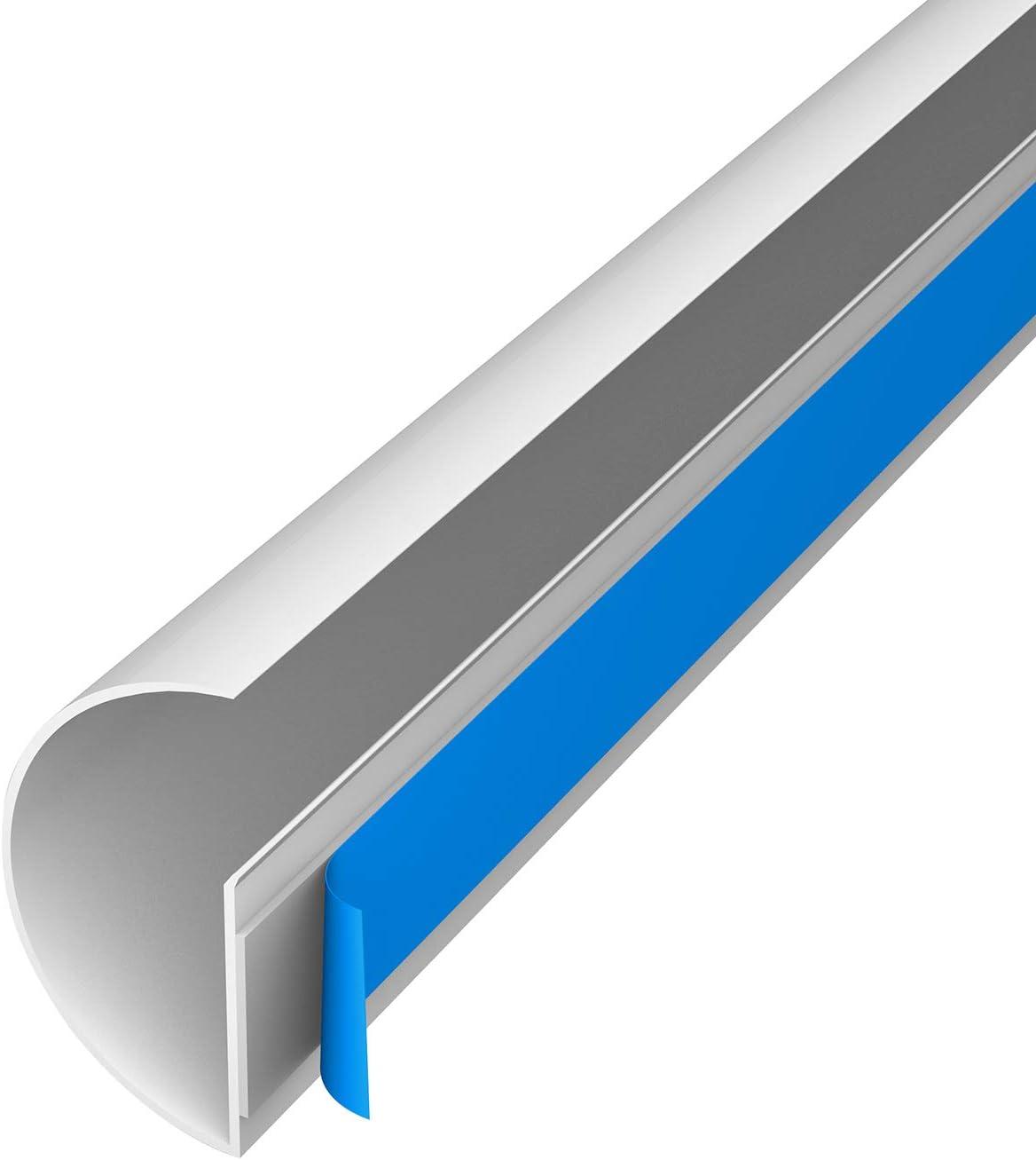 Viertelstabprofil als L/ösung zum Sortieren von Kabeln L - 22x22mm x 1 Meter Wei/ß Kabelmanagementl/ösung f/ür Ecken D-Line Quadrant CableTraC Beliebte Alternative f/ür den Fu/ßbodenabschluss