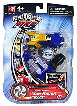 Power Rangers - RPM - Carreras Performance Machines - Turbo Octane León RACER - Azul