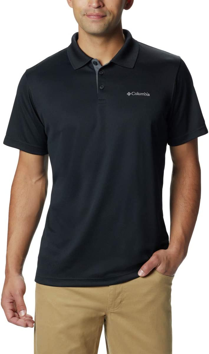 Columbia Men's Utilizer Short Sleeve Wicking Polo with Uv Protection: Sports & Outdoors
