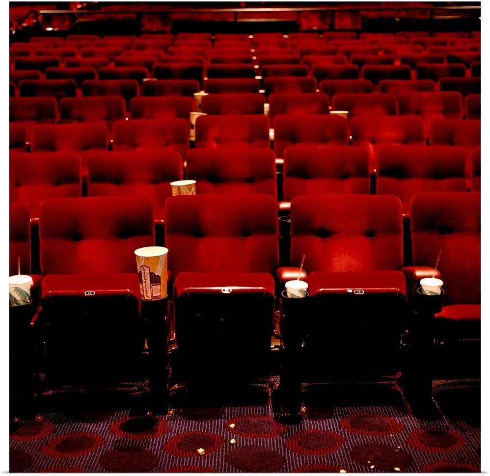 Amazon Com Greatbigcanvas Empty Movie Theater Poster Print 12 X12 Everything Else