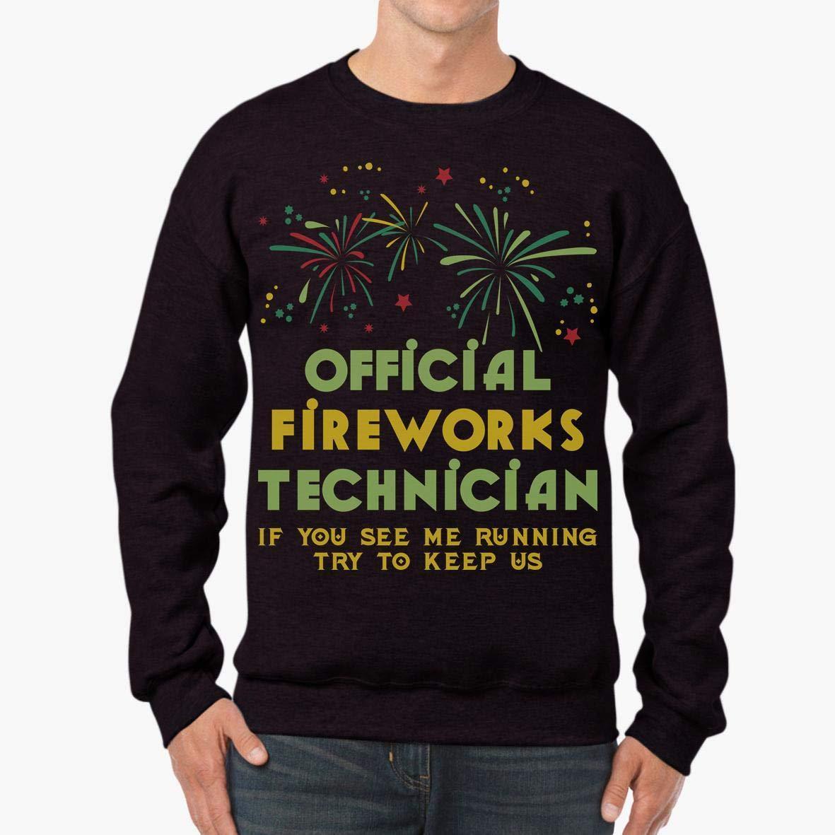 Doryti Happy New Year Fireworks Tech Funny Party Gift Unisex Sweatshirt tee