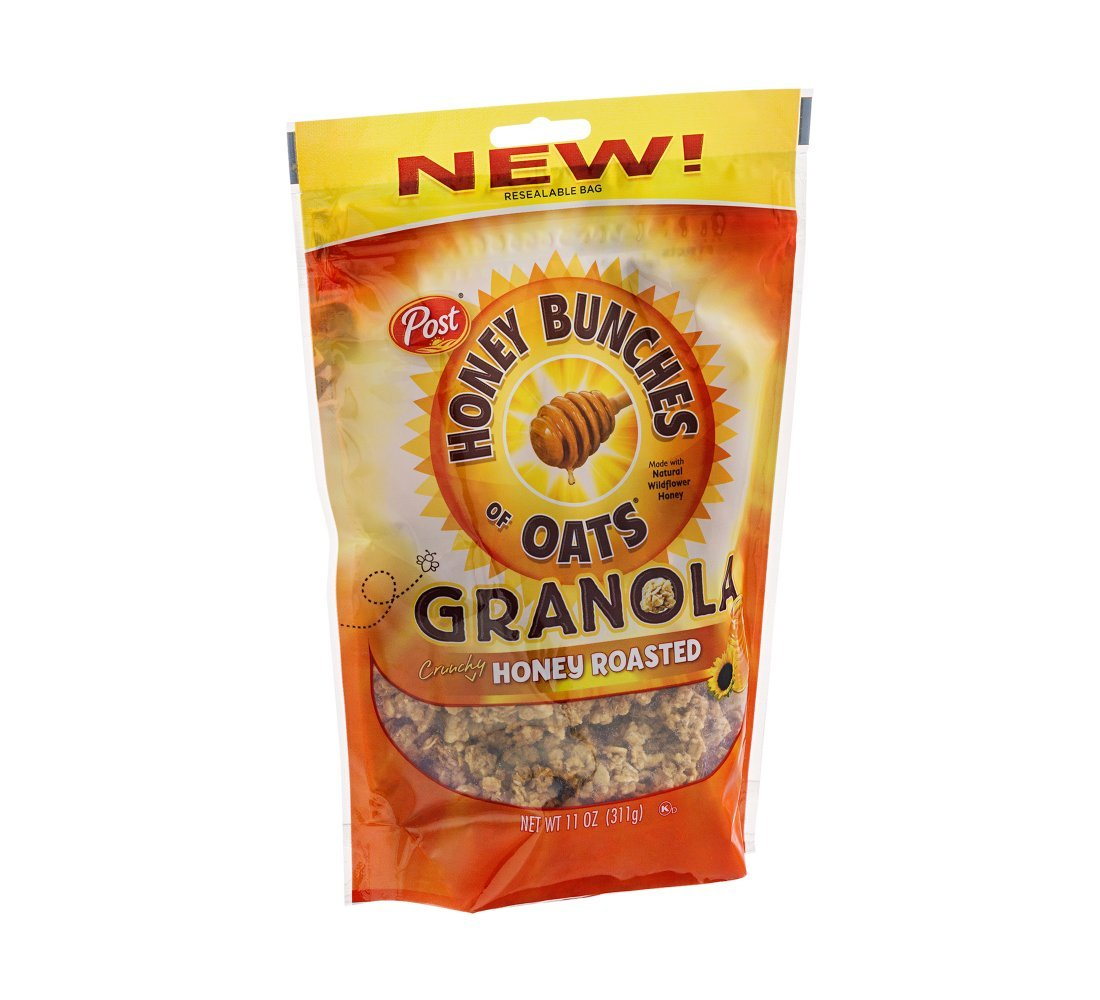 Post Honey Bunches of Oats Crunchy Honey Roasted Granola 11 oz (Pack of 12)