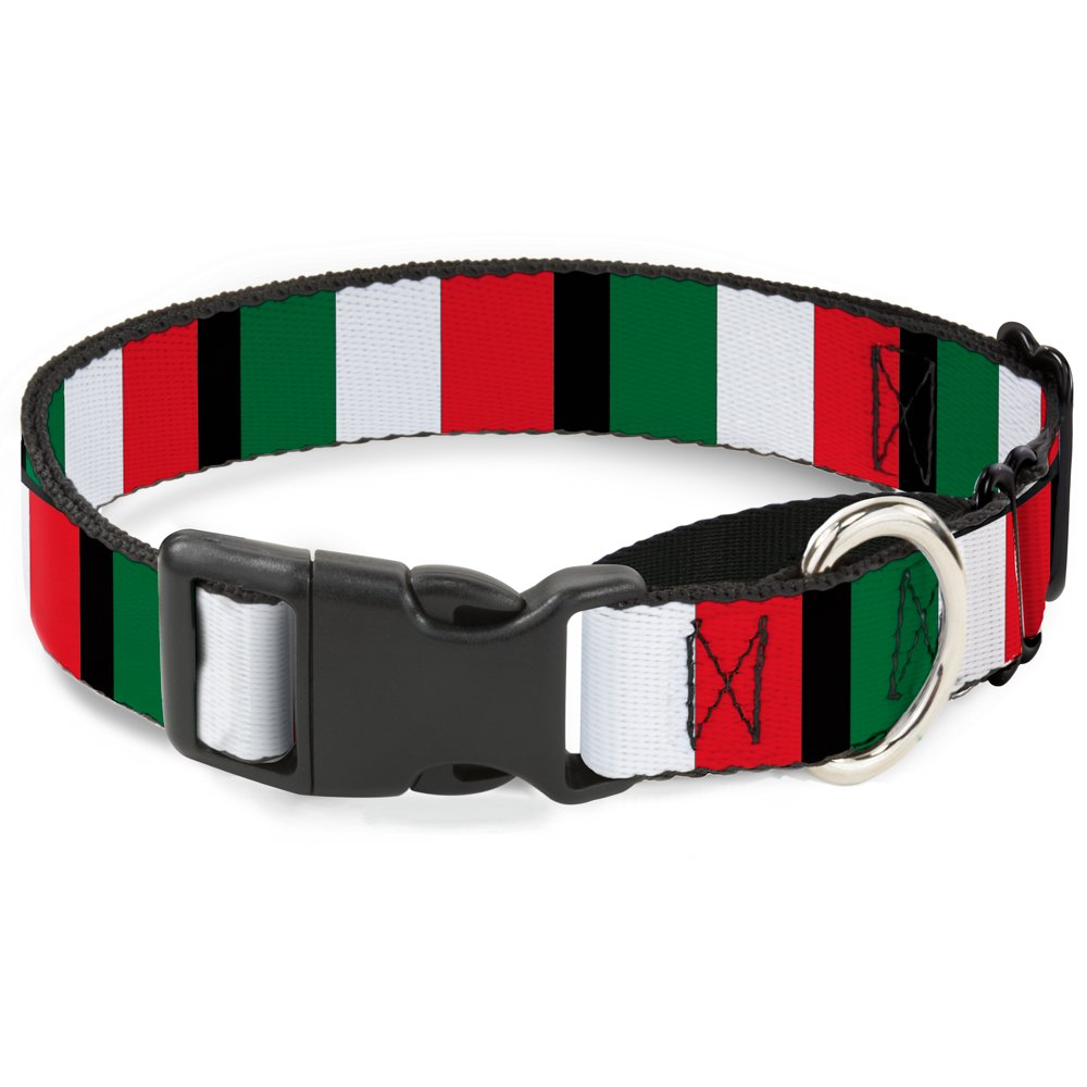 Buckle-Down MGC-W30904-L  Flags Martingale Dog Collar, Large