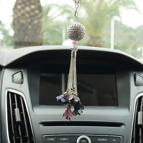 . Amazon com  Royalfox TM  Luxury Hanging Crystal Ball with Flower Car