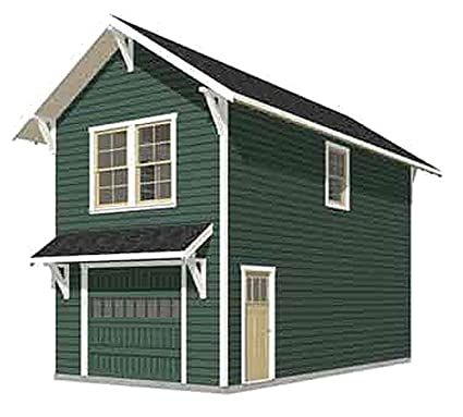Garage Plans: Craftsman Style One Car Two Story Garage With Apartment    Plan 714