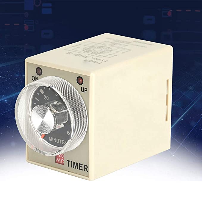 Time Delay Relay Timer 220VAC 6/10/30/60 Minutes Power On Delay Timer Time Relay AH3-3(60M) - - Amazon.com