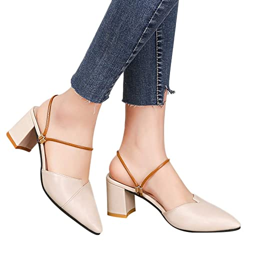 efcf5103728cd Amazon.com: Gyouanime Women Slip On Sandals Dress Shoes Pointed ...