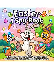 I Spy Easter Book for Kids Ages 4-6: A Fun Happy Easter Coloring & Guessing Game for Preschoolers and Kindergartners to Learn the Alphabet and New Words