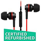 (Certified REFURBISHED) SoundMagic ES18S in-Ear Headphone with Mic (Black/Red)